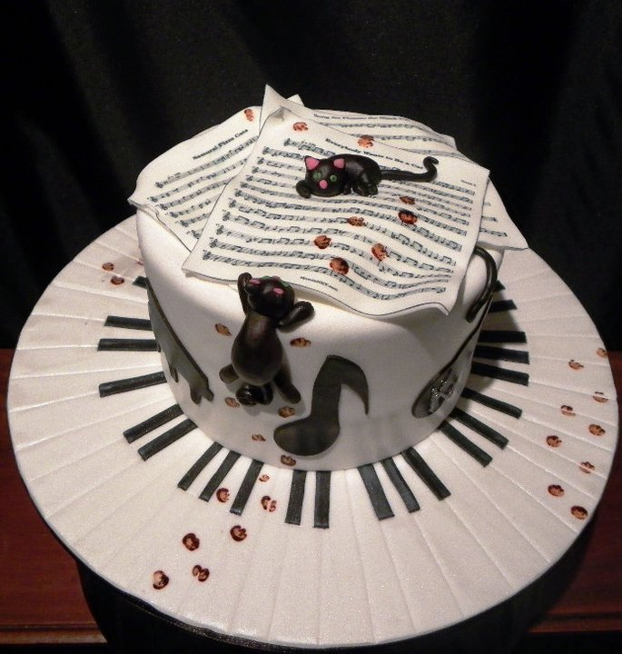 Birthday Cake Ideas Music : Cats & Music Birthday Cake