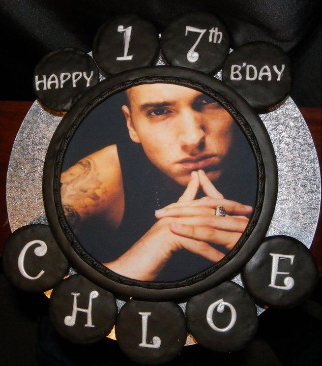 Eminem Birthday Cake & Cupcakes